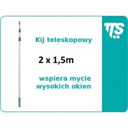 Kij teleskopowy 2x1,5 m